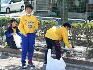 東葛西小学校の清掃活動を行いました