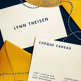 Risograph printed gift vouchers for Lynn Theisen