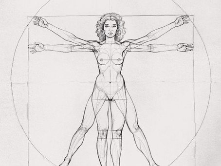 Le proporzioni del corpo umano secondo Vitruvio