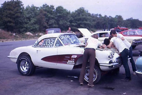 1960 Corvette at West Hampton Dragway