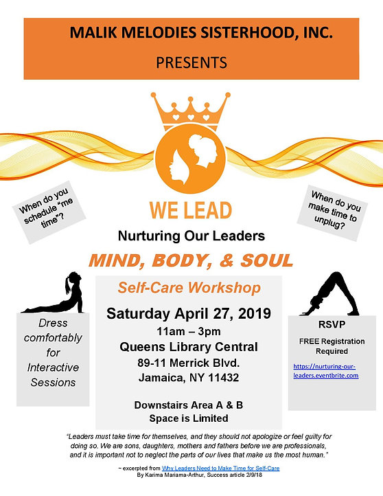 MMSI SELF CARE EVENT FLYER -  APRIL 27,