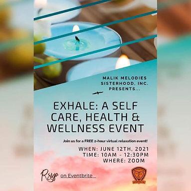 EXHALE - A Self Care, Health & Wellness