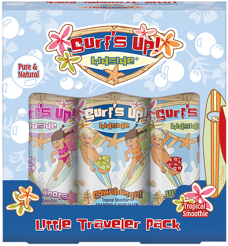 Surf's Up Kidside Little Traveler Pack Amenities