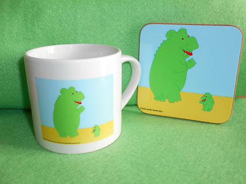 The Big & The Little Monster Child's-sized mug & Coaster set