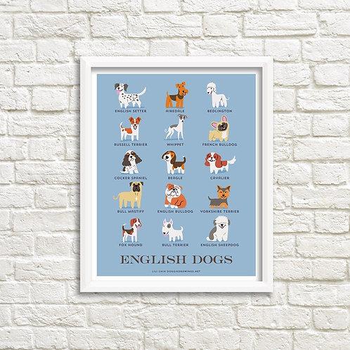ENGLISH DOGS art print