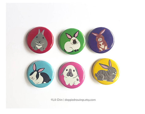 Bunny Buttons - Set of 6