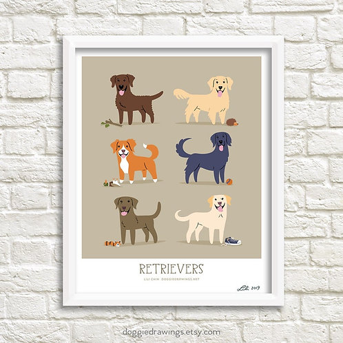 RETRIEVERS - art print