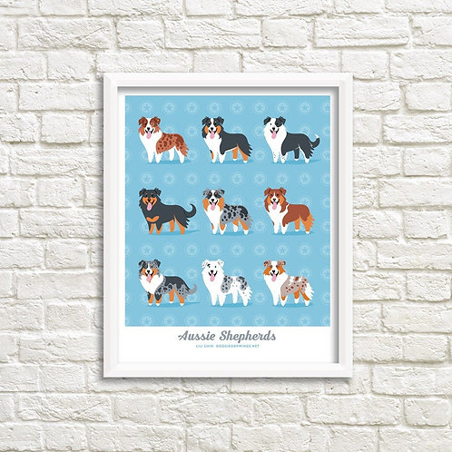 AUSTRALIAN SHEPHERDS art print