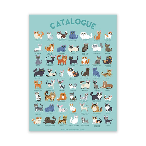 CATALOGUE Cats Poster 18x24 inches