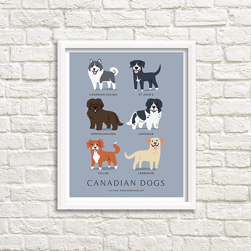 CANADIAN DOGS art print