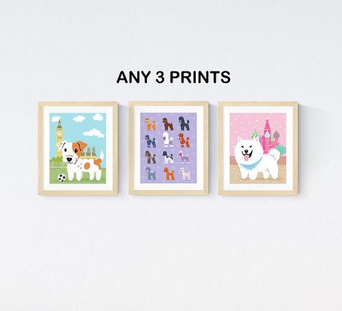 Choose any 3 prints  - 8x10 size