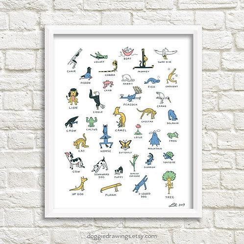 Everybody Yoga! art print