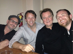 with Bones writers Dean Lopata, Michael Peterson and Keith Fogelsong