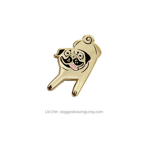 PUG dog pin