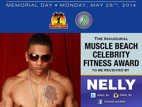 Memorial day at Muscle Beach - It's getting hot in here with Nelly!