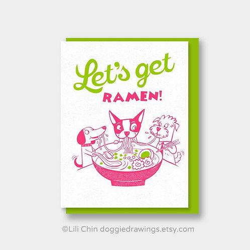 Let's Get Ramen card