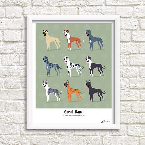 Great Danes art print