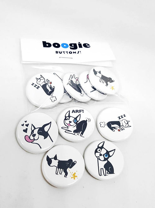 Boogie Buttons - set of 5