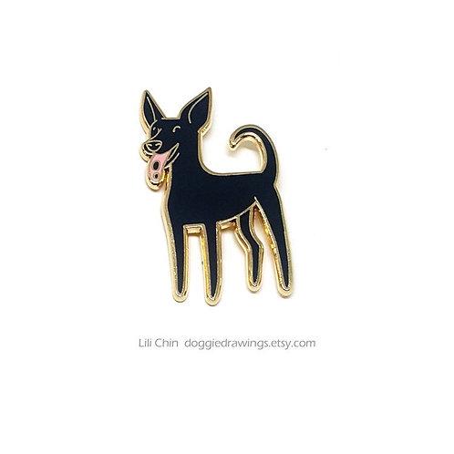 FORMOSAN MOUNTAIN DOG (black) Pin