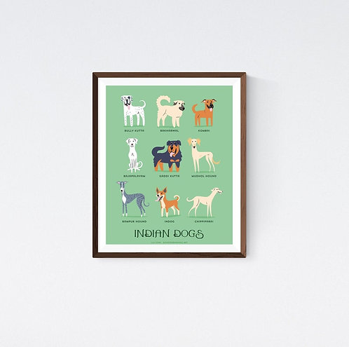 INDIAN DOGS art print