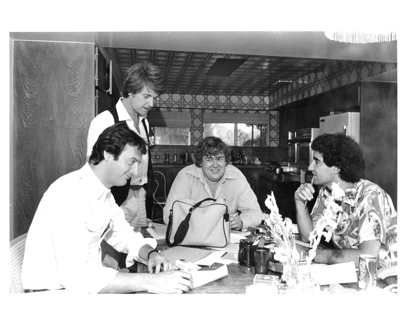Joe, Dave, John, Eugene writing SCTV 1978