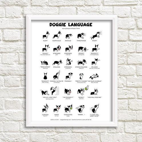 Doggie Language Print