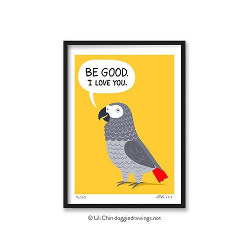 Alex the Parrot - 5x7 art print - limited edition