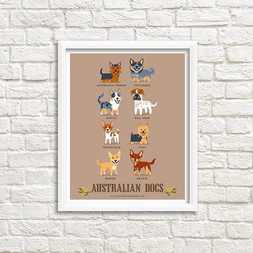 AUSTRALIAN DOGS art print