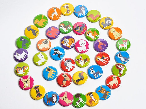 Dog Buttons - Choose 3