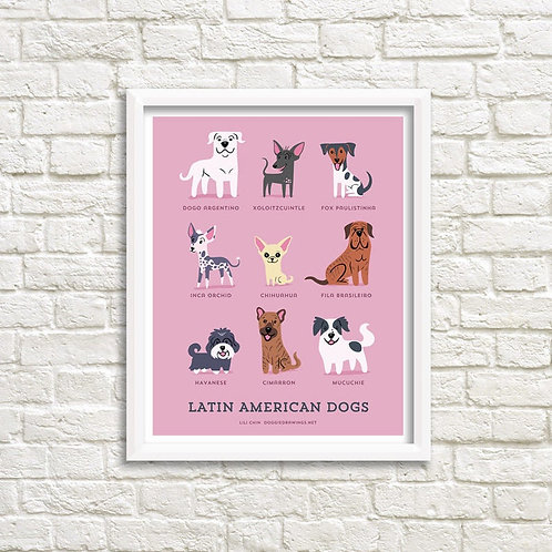 LATIN AMERICAN DOGS art print