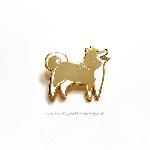 SPITZ DOG pin