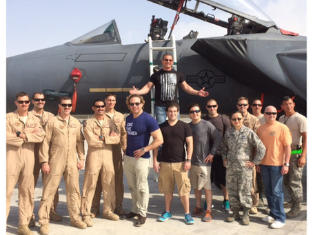 Military trip with Chef Irvine