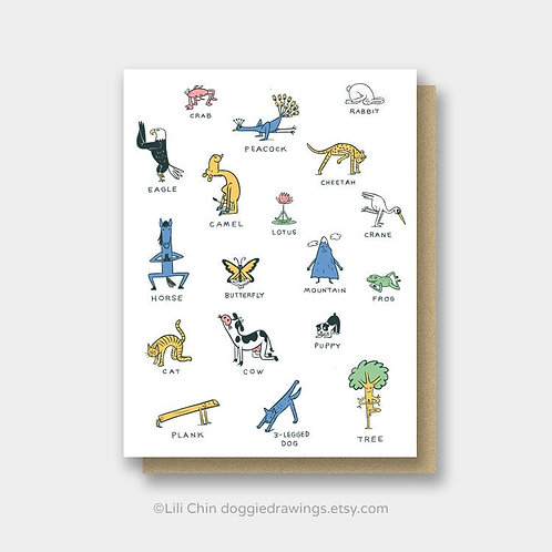 Everybody Yoga! greeting card