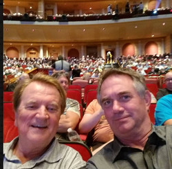 At Steve Martin-Martin Short with Hart Hanson