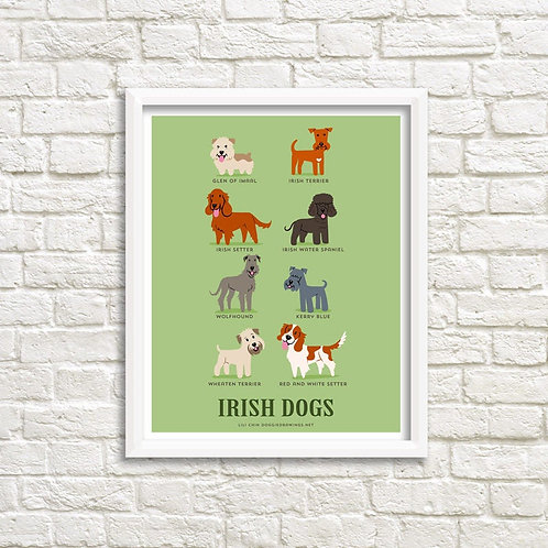 IRISH DOGS art print