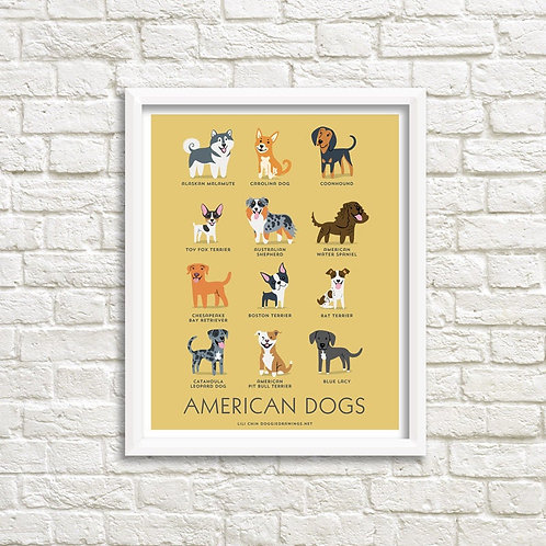 AMERICAN DOGS art print