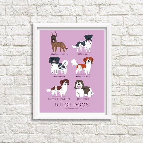 DUTCH DOGS art print