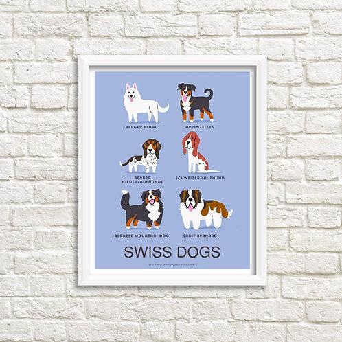 SWISS DOGS art print