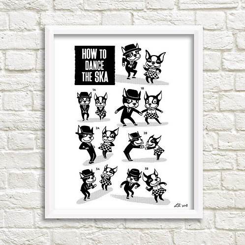 How To Dance The Ska 11x14 print