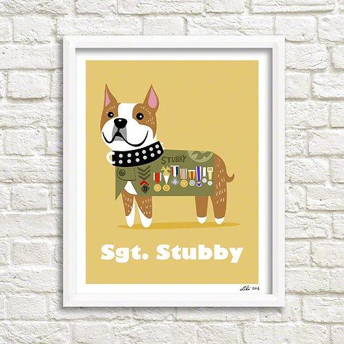 Sgt Stubby art print