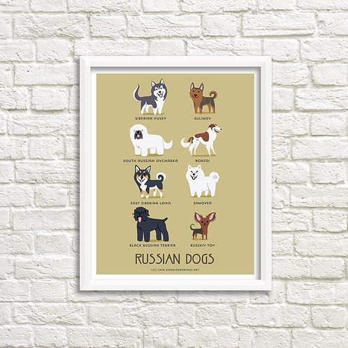 RUSSIAN DOGS art print