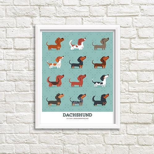 DACHSHUNDS art print
