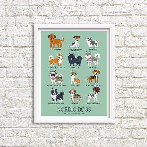 NORDIC DOGS art print