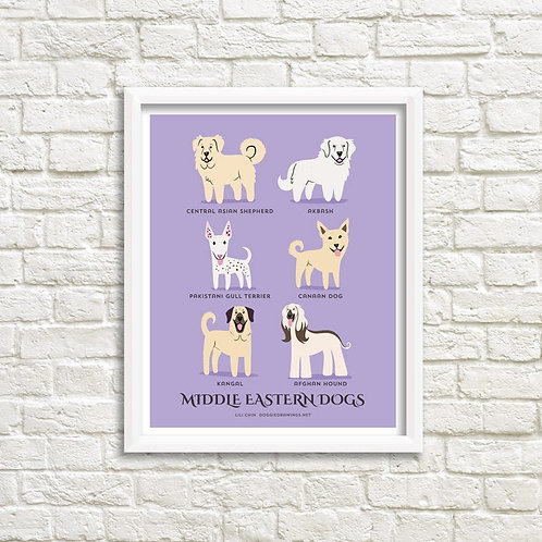 MIDDLE EASTERN DOGS art print