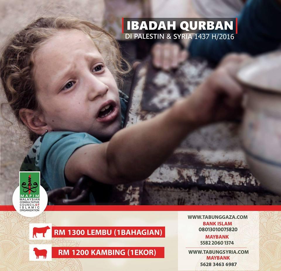 Ibadah Qurban Palestin & Syria 2016