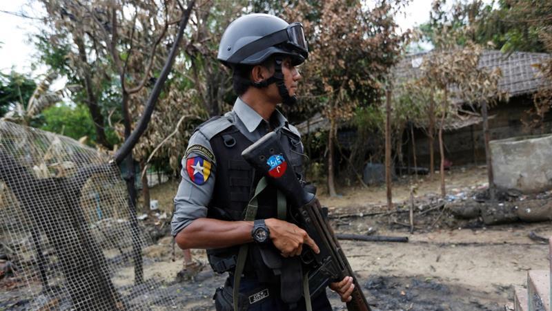 Police in Rakhine State, Myanmar