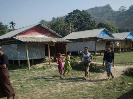 Etnik Buddha Pindah Ke Kampung Rohingya Di Rakhine