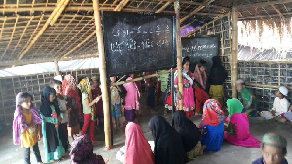 MADRASAH turut jadi pusat komuniti pelarian dan sekolah untuk anak-anak Rohingya teruskan hidup di kem Balukhali di sini