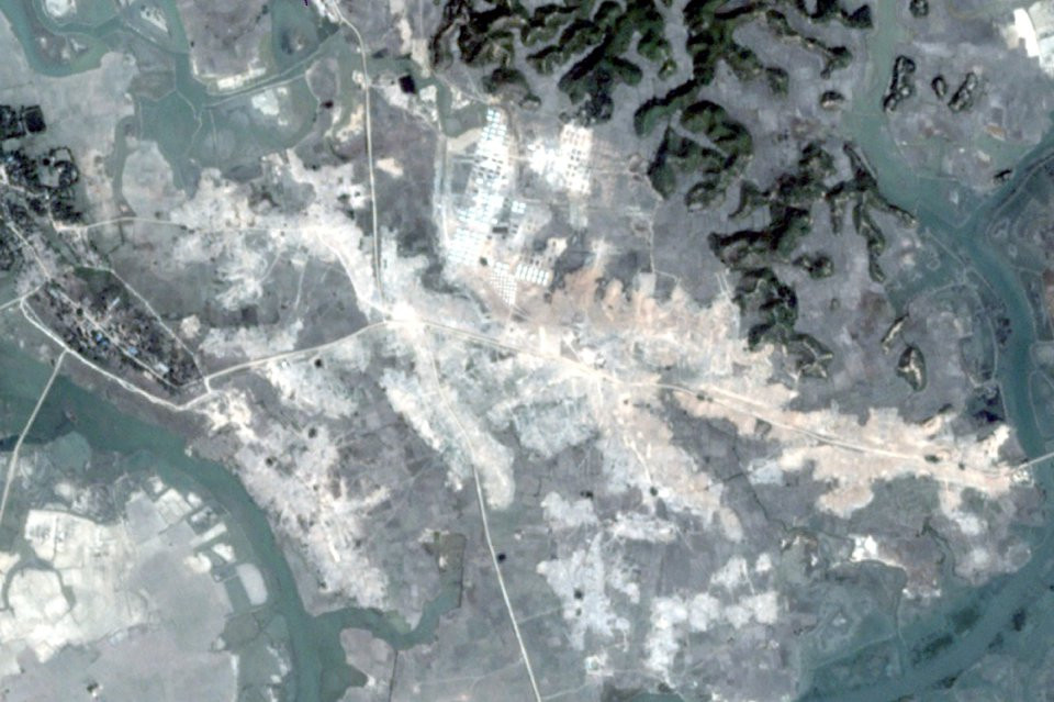 IMEJ satelit menunjukkan pihak berkuasa Myanmar merobohkan sekurang-kurangnya 55 perkampungan Rohingya di utara Rakhine sejak beberapa bulan lalu