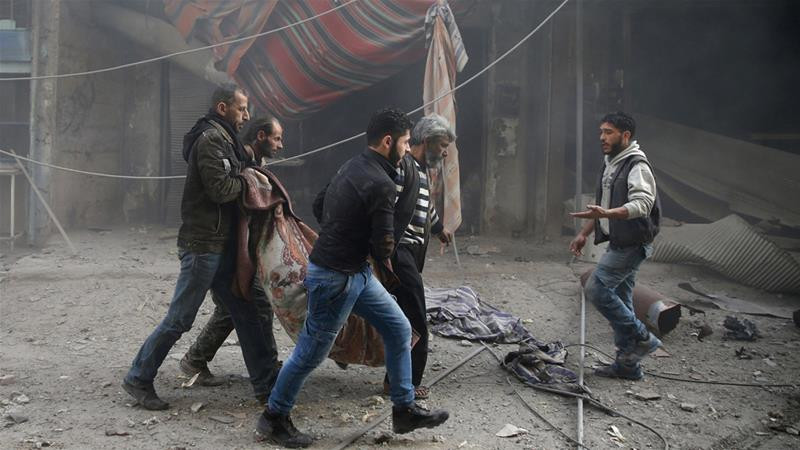 Eastern Ghouta has faced sustained raids despite being a de-escalation zone